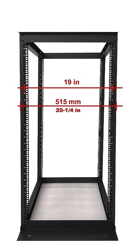 22u 4 Post Open Frame 19 Network Server Rack Cabinet Adjule Depth 24