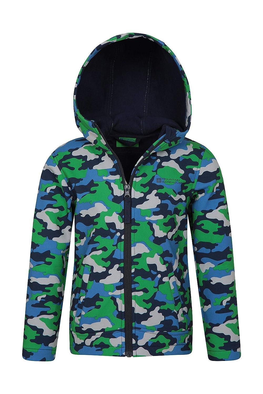 e5171f6d75d46e Mountain Warehouse Exodus Kids Printed Softshell Jacket - Summer Coat   Amazon.ca  Sports   Outdoors