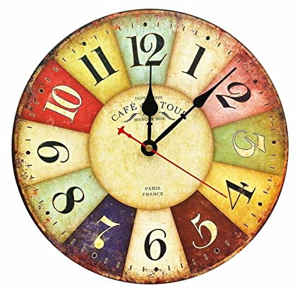 Amazon.com: Decorative Wall Clock ,RELIAN 13.5\