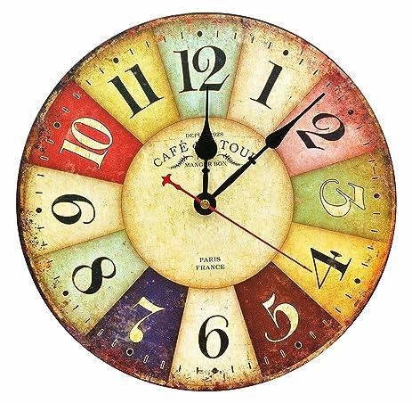 Amazon.com: Large Decorative Wall Clock ,RELIAN 13.5\
