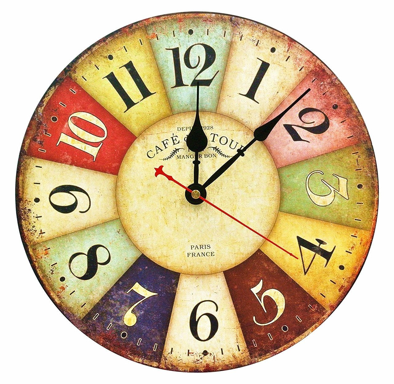 Large Country Wall Clock: Amazon.com