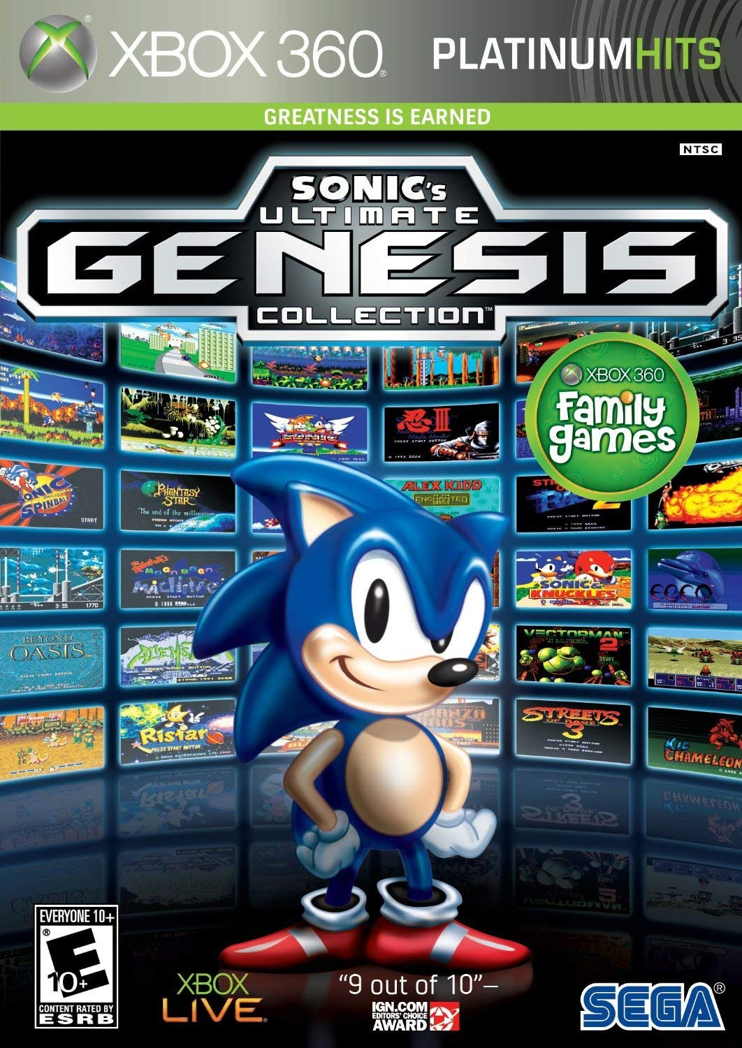 Sonic's Ultimate Genesis Collection (Platinum Hits) - Xbox 360 (Renewed)