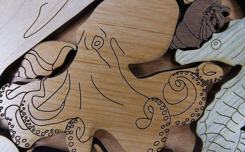 a beautiful challenge Sea Creatures II Puzzle wood brain teaser