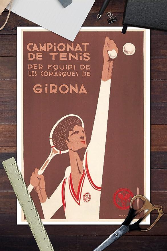 Amazon.com: Campionat de Tenis Vintage Poster (artist ...