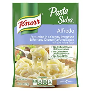 Knorr Pasta Sides For a Delicious Quick Meal Alfredo No Artificial Flavors 4.4 oz. , ( Pack of 12 )