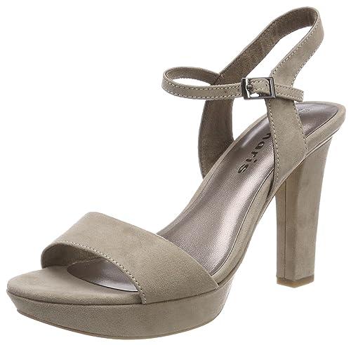 Tamaris 28398 Sandali con Cinturino alla Caviglia Donna Verde Mint 39