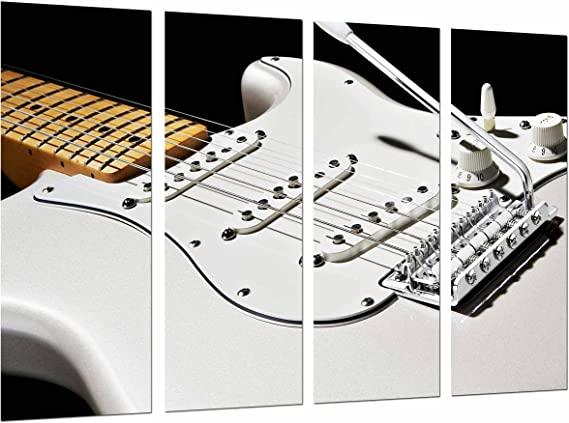Poster Fotográfico Guitarra Blanca Decoracion Rockera Fender Stratocaster