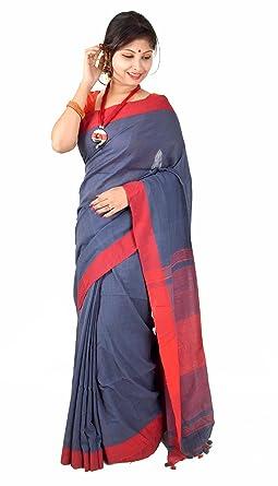 63692aed676 Handmadewale Nisuj Fashion Women s Khadi Silk Saree with Blouse Piece  (HMWCL10005