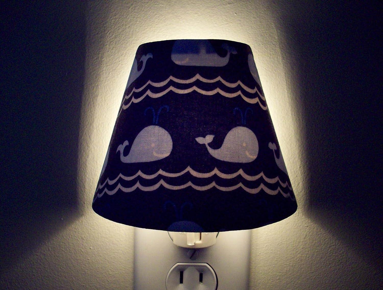 Blue Whales Navy Nautical Night Light