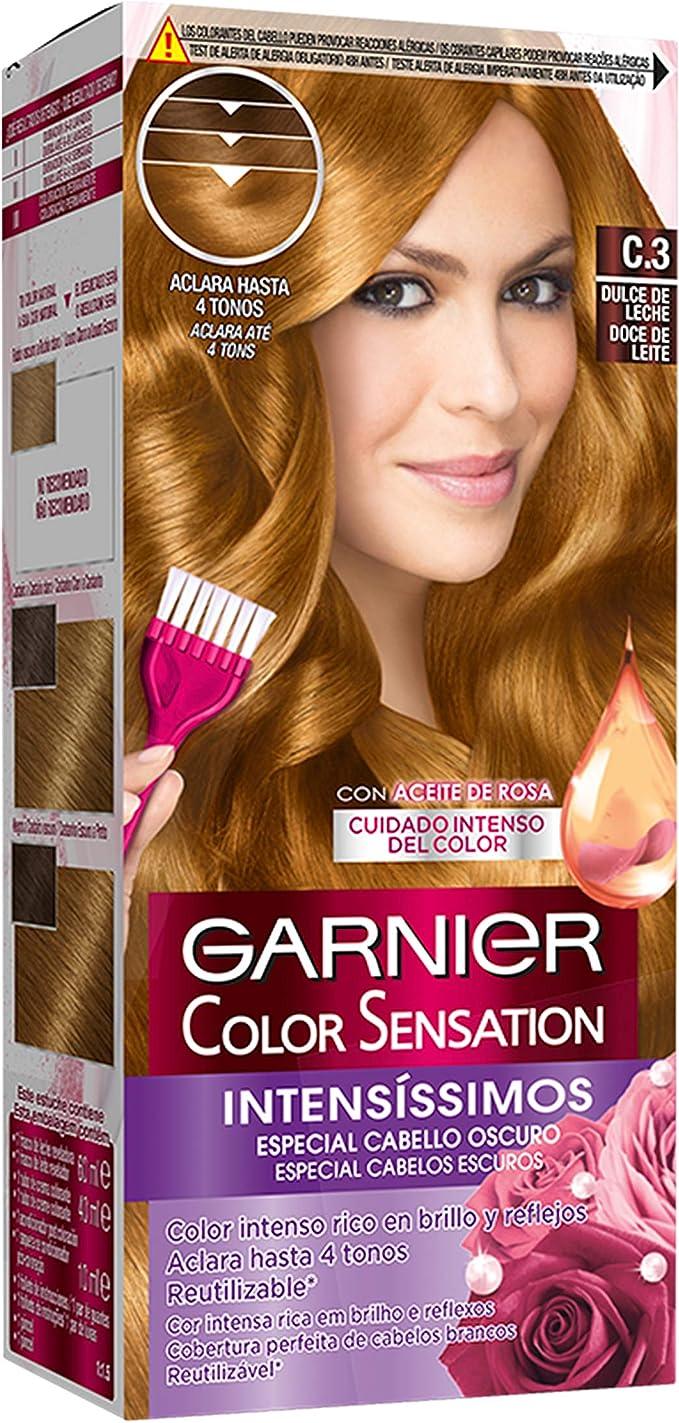 Garnier Color Sensation coloración permanente e intensa reutilizable con bol y pincel - C3 Dulce de Leche