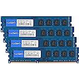TECMIYO 16GB Kit (4x4GB) DDR3 1333MHz PC3-10600 PC3-10600U Non ECC Unbuffered 1.5V CL9 2RX8 Dual Rank 240 Pin UDIMM Desktop M