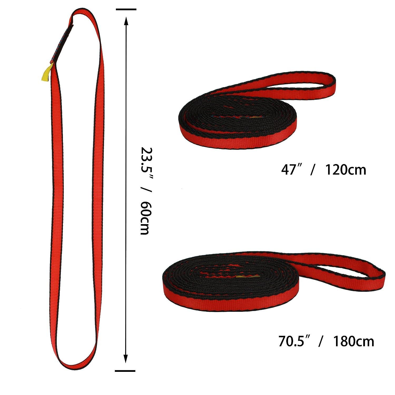 Geelife 16mm Nylon Sling Runner 22kN//4840lb Rock Climbing Loop Lightweight Yoga Slinging