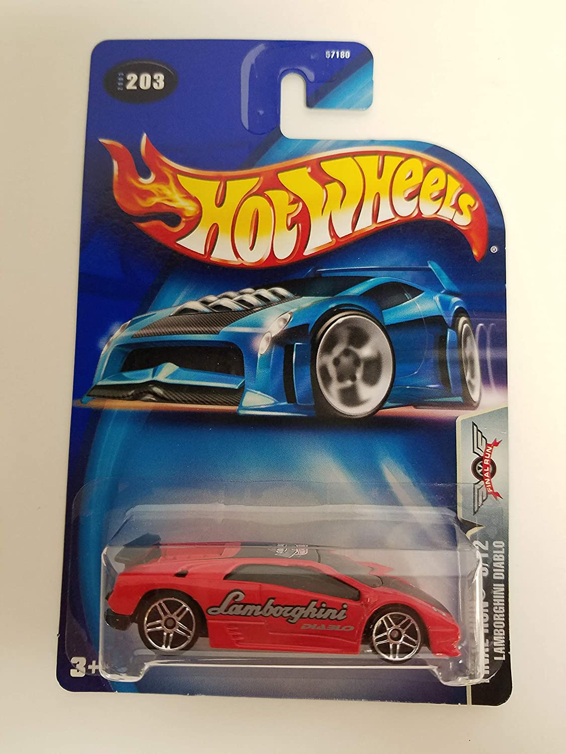 Lamborghini Diablo Final Run 9/12 2003 Hot Wheels diecast car No. 203