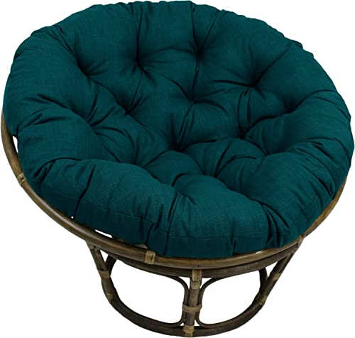 Editors' Choice: Blazing Needles 52-inch Indoor/Outdoor Papasan Cushion Sea Blue Specialty