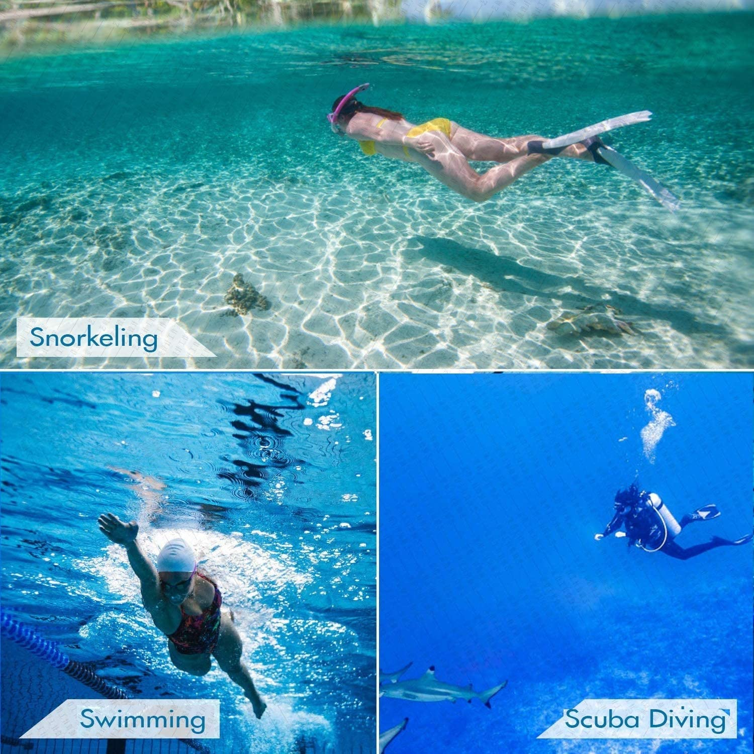 180/° Wide View for Adults Men Women Scuba Diving Swimming Training Anti Fog Mask Snorkeling Gear with Dry Top Tube Snorkel Set