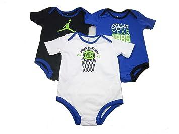 3 Pack Boys Nike Air Jordan Infant Bodysuits (3-6 Months, Blue/