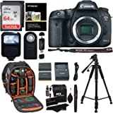 Canon EOS 7D Mark II Digital SLR Camera (Body) + 64GB Memory Card + 57 Inch Tripod + Spare Battery + Polaroid Slave Flash + Professional DSLR Case + Polaroid Accessory Kit