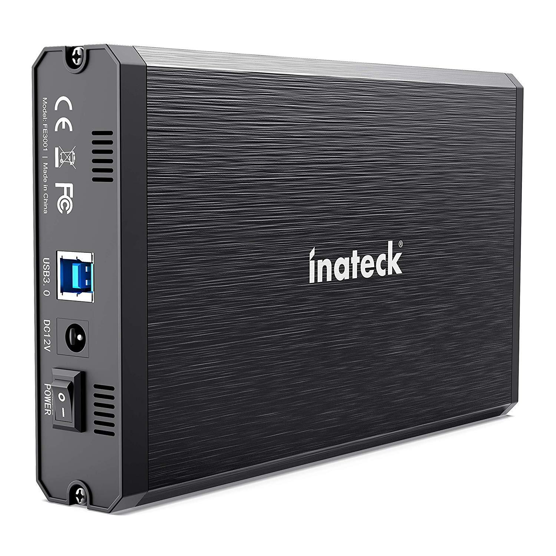 Inateck 3.5 Hard Drive Enclosure, Aluminum USB 3.0 Sata HDD Enclosure, FE3001