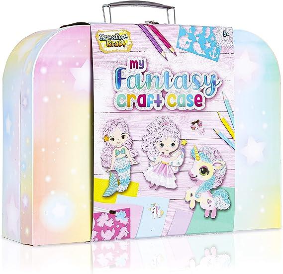 con glitter per bambine confezione da 8 Matite unicorno colorate