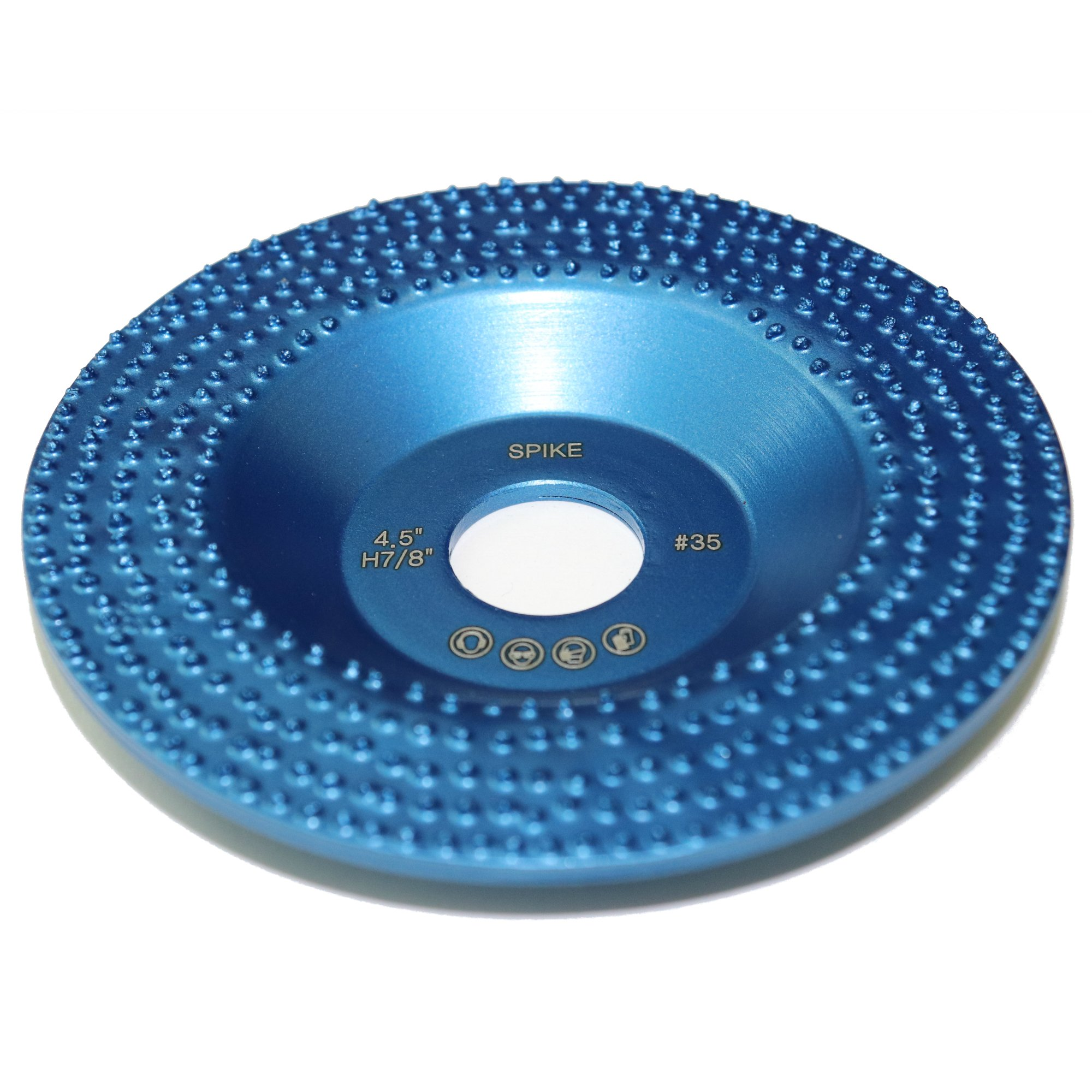 Spike 4.5'' Diamond Cup Removing Disc Wheel with RCD Newest Technology & Rubber Cushioned Body (Spike, 4.5'', 5.4 oz Very Light)