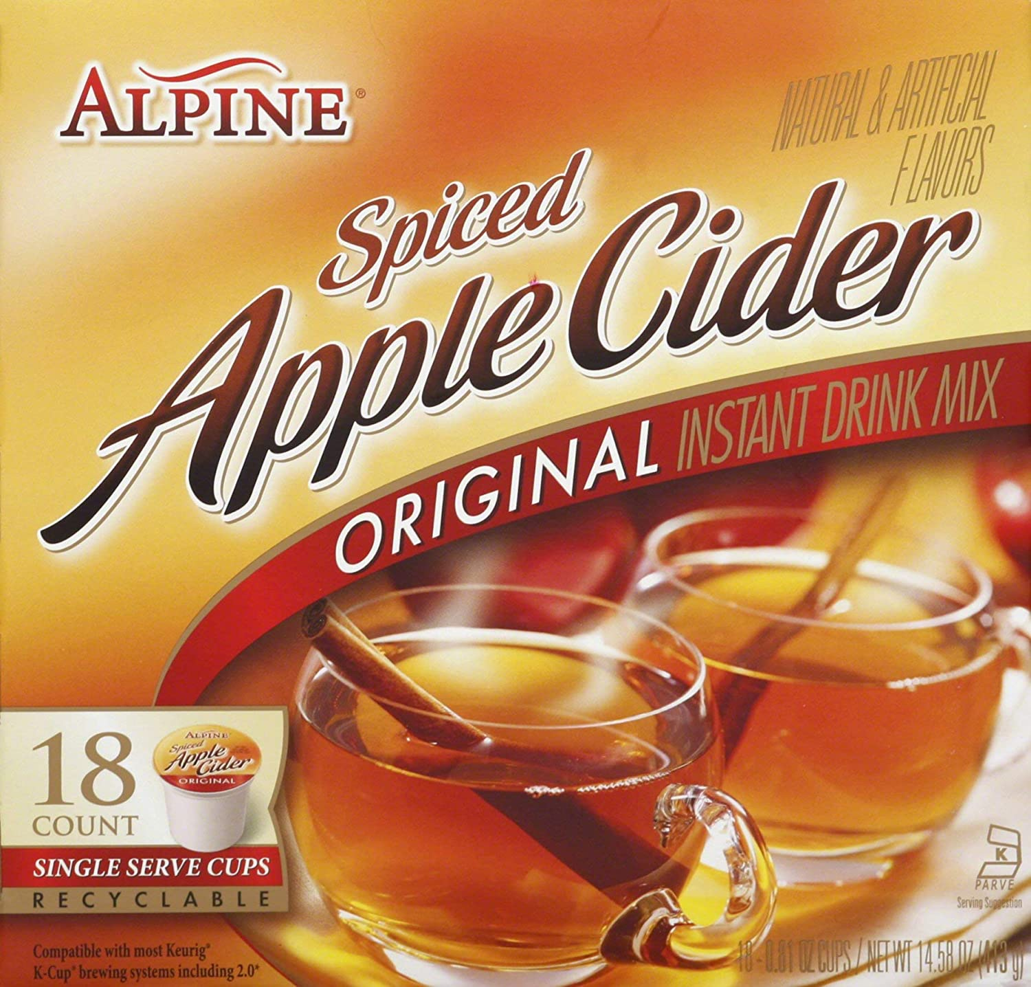 Alpine Spiced Apple Cider K Cup 18 Count (2 Pack)
