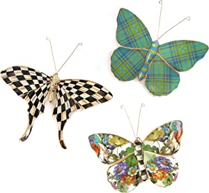 MacKenzie-Childs Pond Butterflies Trio, Hanging Butterfly Wall Decor, Set of 3