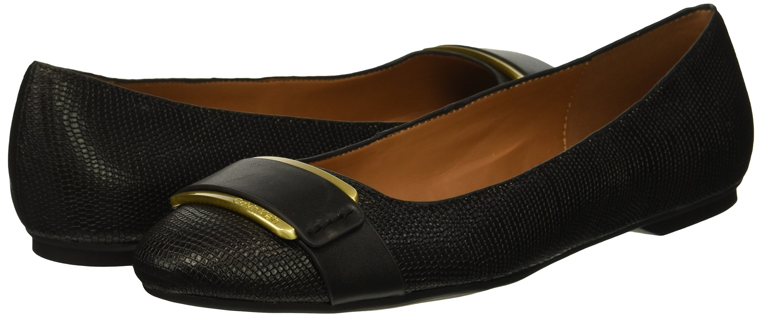 Calvin-Klein-Women-039-s-Oneta-Ballet-Flat-Black-5-M-Choose-SZ-color thumbnail 6