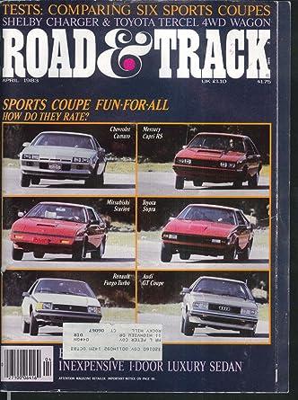 ROAD & TRACK Camaro Capri Starion Supra Fuego Audi GT Dodge Shelby ++ 4 1983