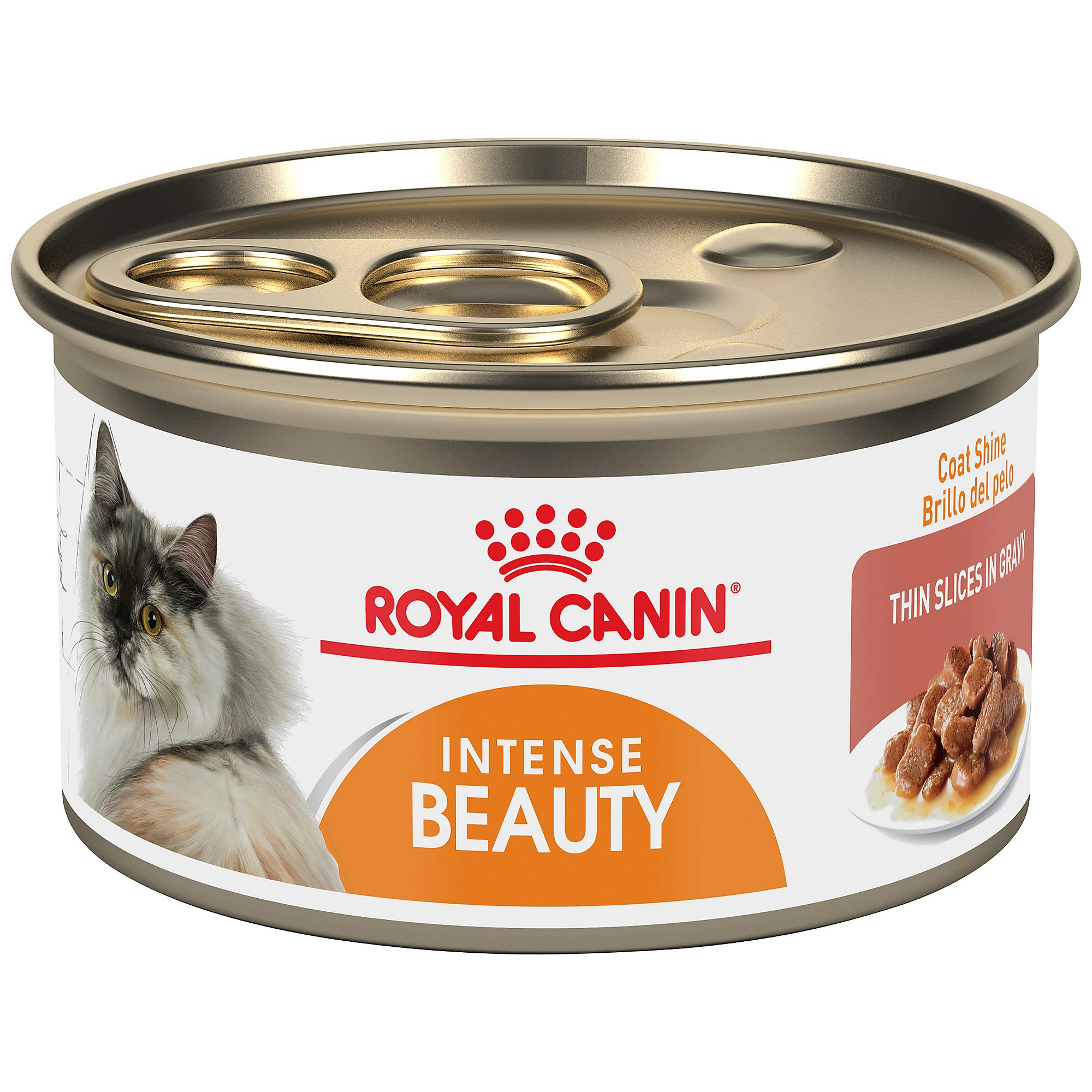 Royal Canin Intense Beauty Thin Slices in Gravy Wet Cat Food for Skin & Coat, 3 oz. can by Royal Canin