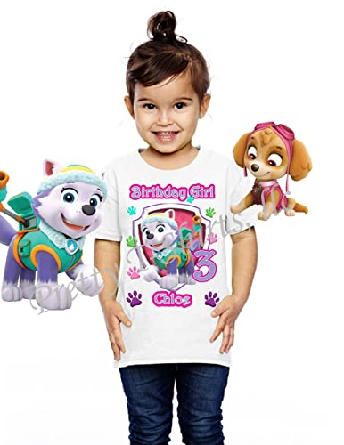 Amazon Girl Paw Patrol Birthday Shirt ADD Any Name And Age EVEREST Party FAMILY Matching VISIT OUR SHOP S Handmade