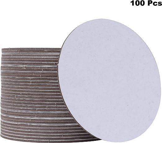 rund Bierfilze Untersetzer Bierdeckel 100 Stck Durchmesser: 10,7 cm