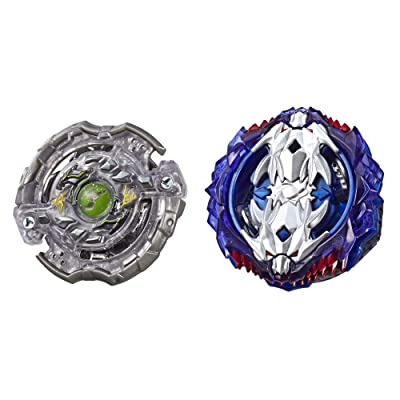BEYBLADE Burst Turbo Slingshock Dual Pack Leopard L4 & Silver-X Jormuntor J4 – 2 Right-Spin Battling Tops, Age 8+: Toys & Games