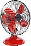 Bestron DFT25R Climate Control Summer Ventilateur de Table Retro Rouge