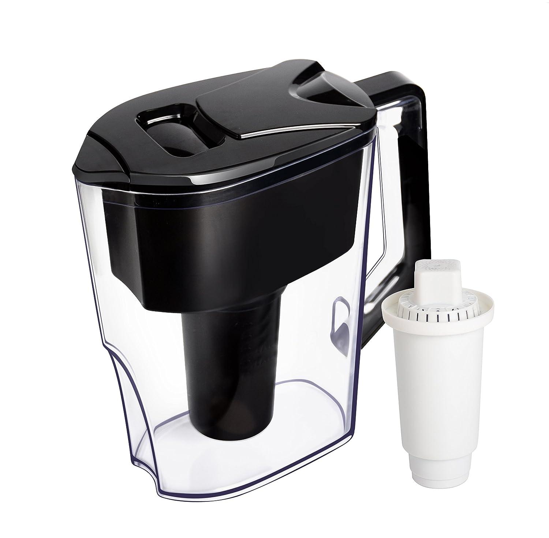 iNeibo caraffa acqua filtrante- Purificatore filtro acqua 2, 5 litri -Sistema di filtrazione ionizzatore a 7 fasi per purificare e aumentare il livello di PH - Acqua fresca pulita e rinfrescante(nera) CMIBJCK003785
