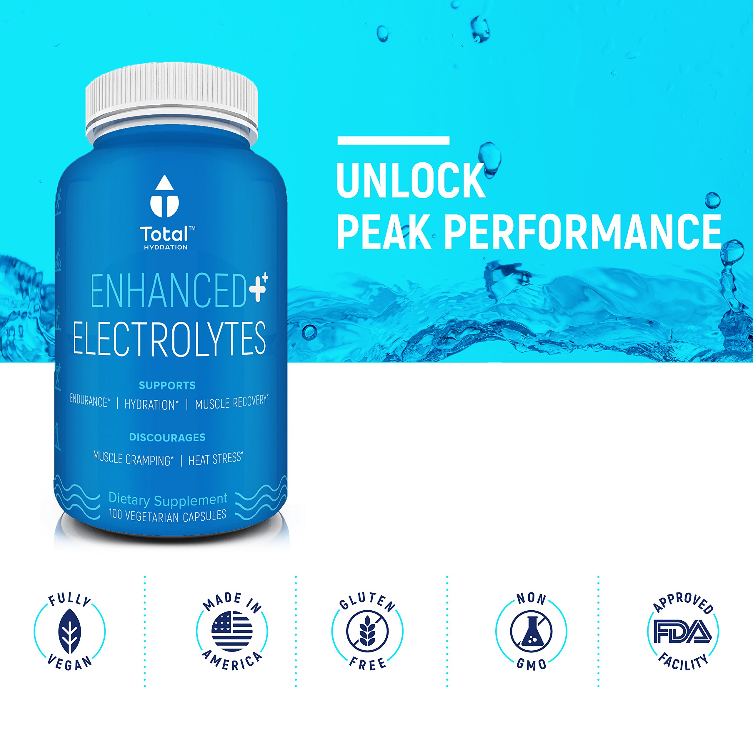 TOTAL HYDRATION Natural Himalayan Salt Electrolyte Replacement Capsules - #1 Ranked - Recovery from Endurance Sports, Heat, or Dehydration - Cramp reduction, Restores energy - 100 pills, USA Made by Total Hydration (Image #7)