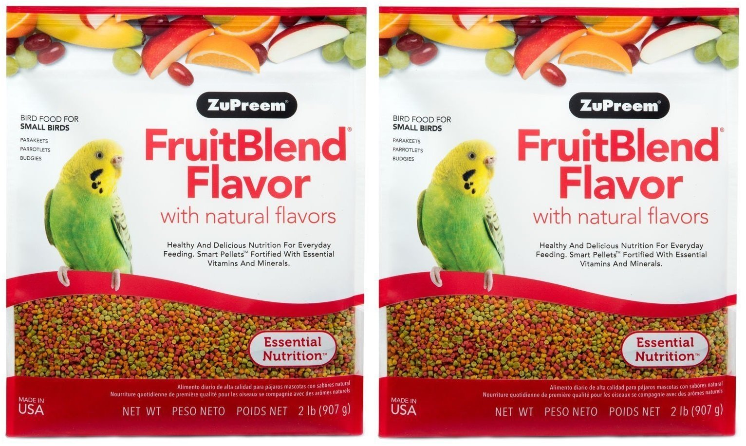 ZuPreem FruitBlend Flavor Pellets Bird Food for Small Birds – Powerful Pellets Made in USA, Naturally Flavored for…