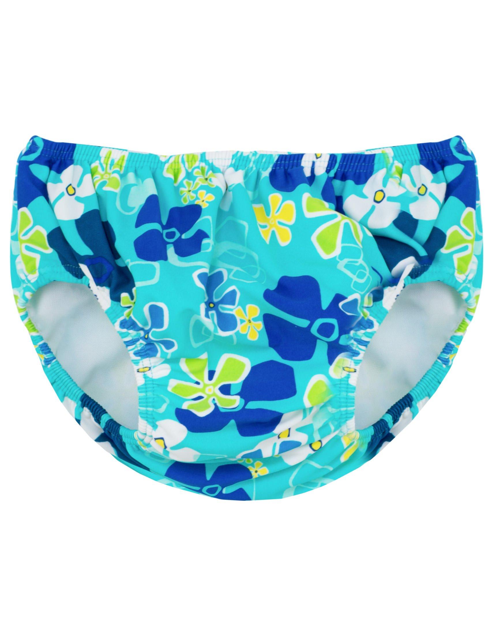 Tuga Girls Reusable Swim Diaper, Ocean, S