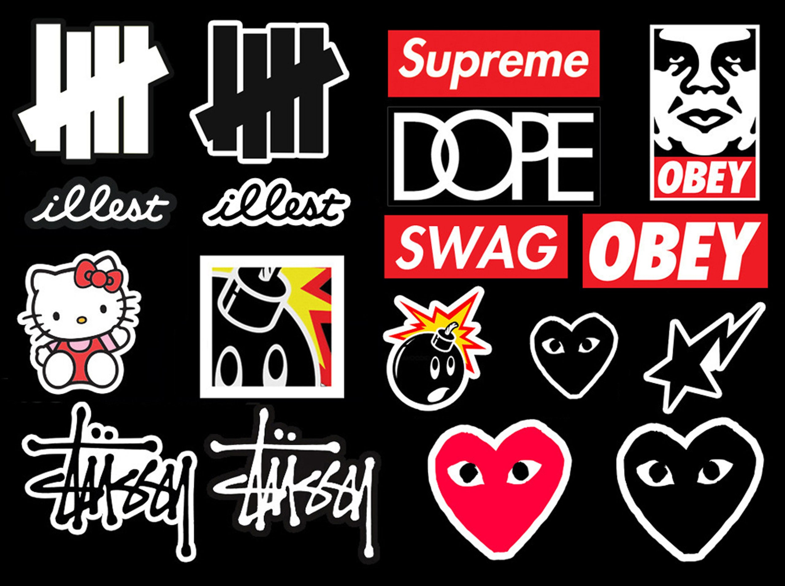 Galleon 18 hypebeast logo stickers stussy supreme hundreds undefeated cdg illest