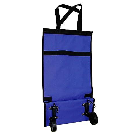 MSV 120001, Carrito De Compras Plegable Pequeño, Azul, 55,5 x 30