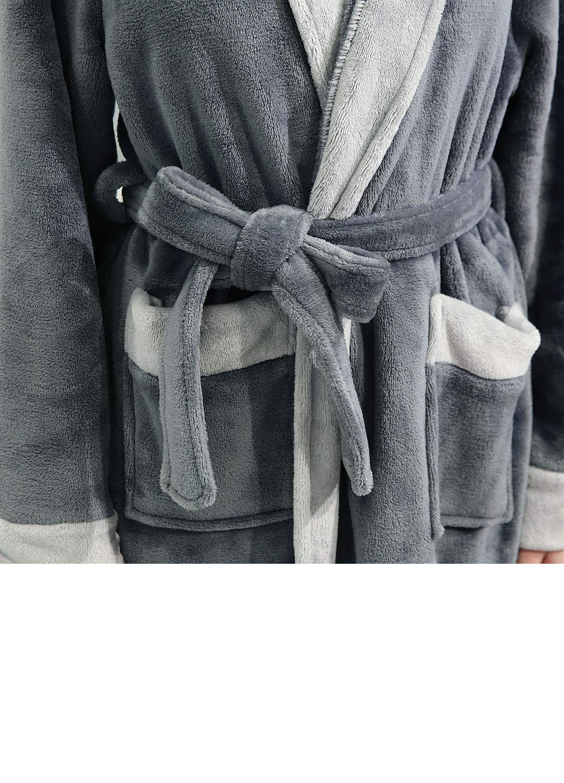 Bene assorbenza Regalo Perfetto Morbido ZAKASA Luxury Dressing Gonna da Donna Super Soft Robe Accappatoio in Spugna con Cappuccio per Uomo e Donna