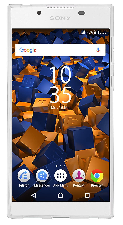 mumbi Coque pour Sony Xperia L1 Transparent//blanc
