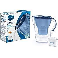BRITA Marella azul – Jarra de Agua Filtrada con 1 cartucho MAXTRA+, Filtro de agua BRITA que reduce la cal y el cloro…
