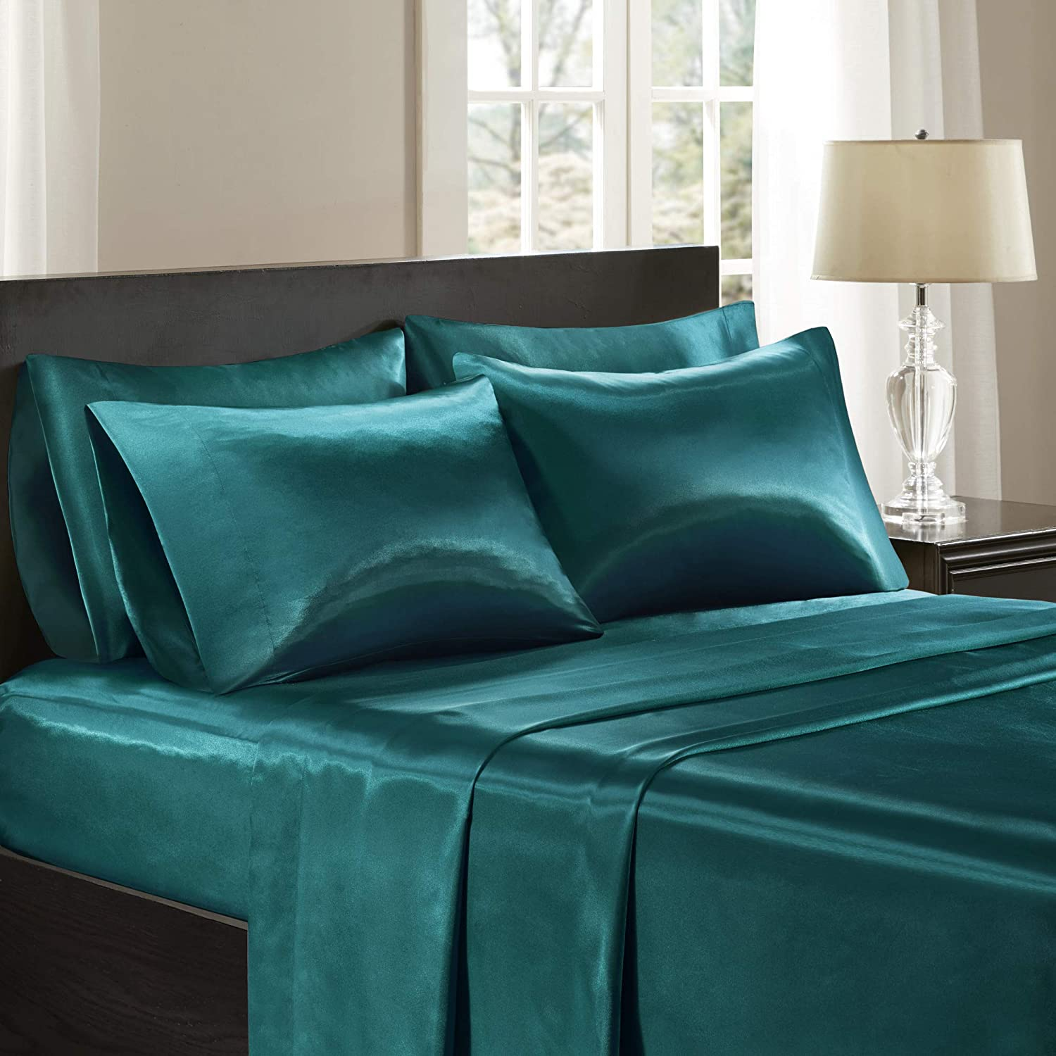 Madison Park Satin Wrinkle-Free Luxurious and Silky with 16