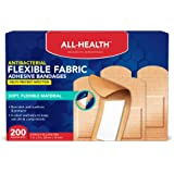 All Health Antibacterial Fabric Adhesive Bandages, 1 in x 3 in, 200 ct | Helps Prevent Infection, Flexible Protection for First Aid and Wound Care
