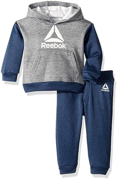 a884f619d Reebok - Sudadera con Capucha y pantalón para bebé  Amazon.com.mx ...