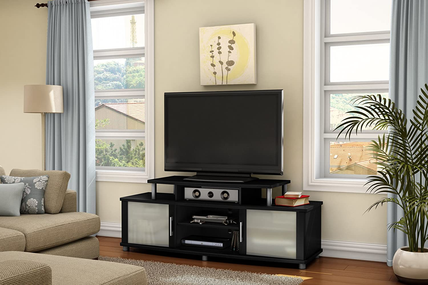 Amazon.com: South Shore City Life Collection TV Stand, Pure Black: Kitchen  U0026 Dining