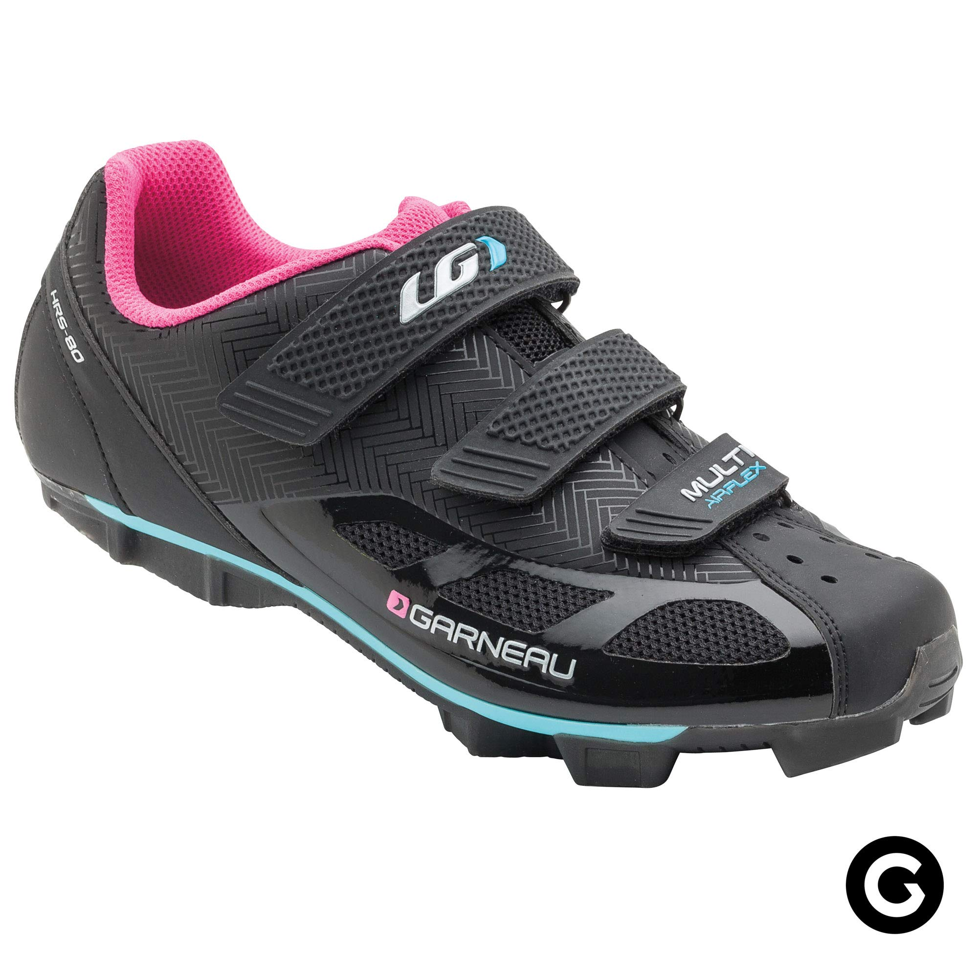 Louis Garneau Women's Multi Air Flex Bike Shoes for Indoor Cycling, Commuting and MTB, SPD Cleats Compatible with MTB Pedals, Black/Pink, US (6), EU (36)