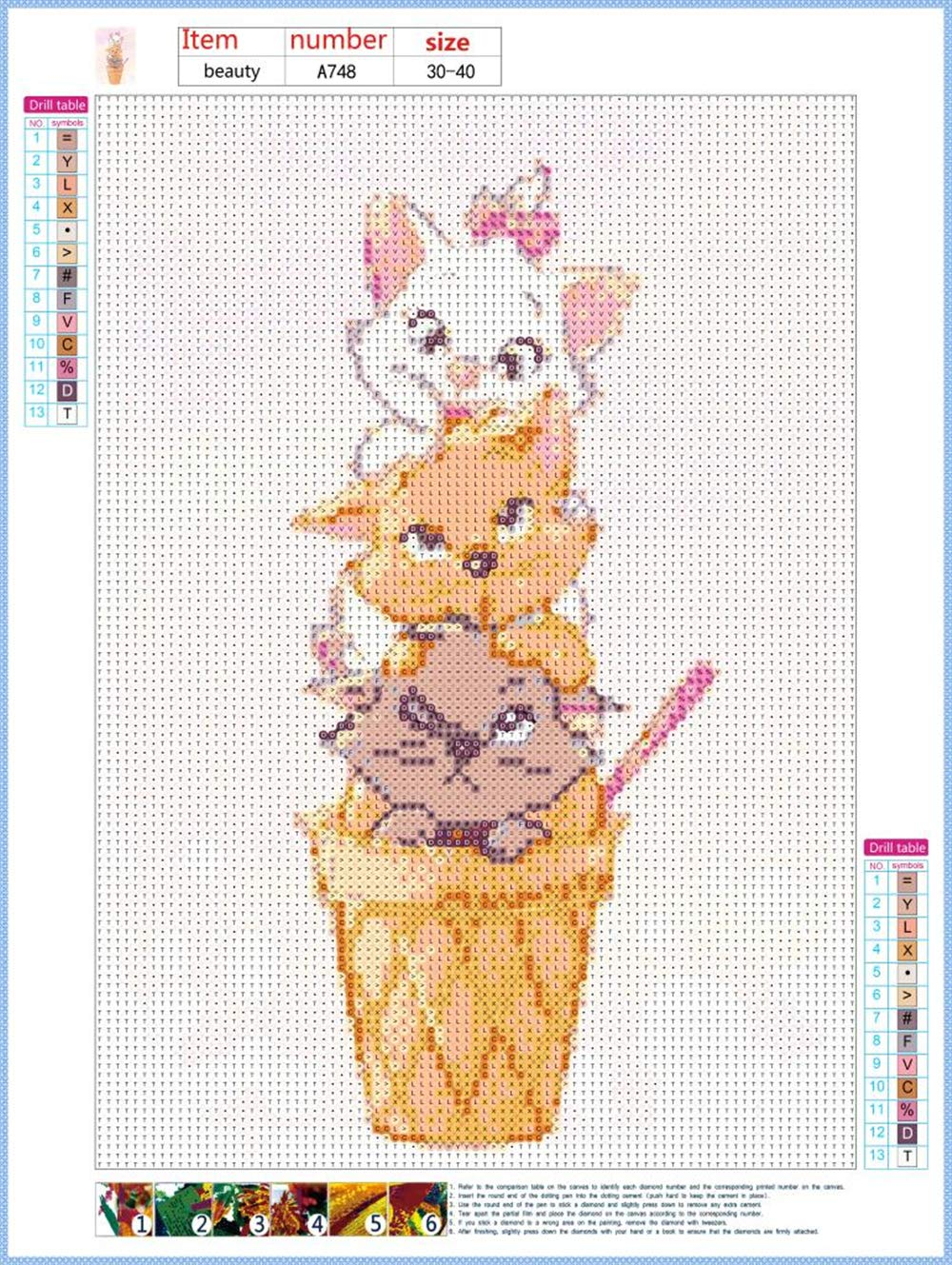 abd12c244f Diamond Painting Kits for Adults Cat,5D Diamond Painting Kits Full Drill,DIY  Diamond Art Rhinestone Embroidery Cross Stitch Kits Supply Arts Craft  Canvas ...