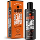 ProGro Beard Shampoo & Wash   Beard Growth & Thickening – Infused with Biotin & Caffeine   Tingly Fresh Clean, Moisturize & Hydrate for Fuller & Younger Looking Beard – (4 oz.) Wild Willies