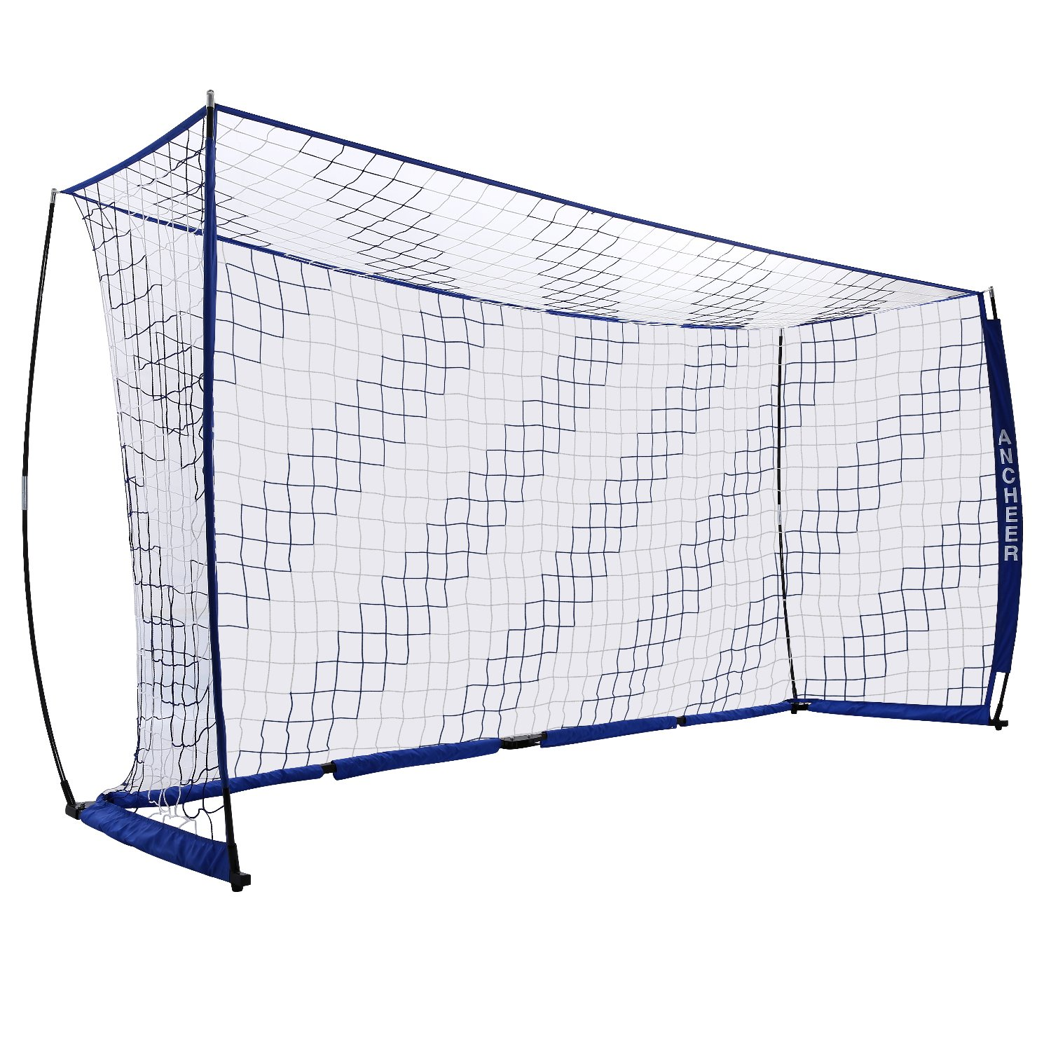 AncheerポータブルサッカーゴールFolding Soccer Goal Net in 3 Sizes B07BMRCDLC 12 x 6 FT Blue 12 x 6 FT Blue
